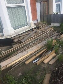 FREE wood! Old floorboards can be re-used or as fire wood. Must collect.
