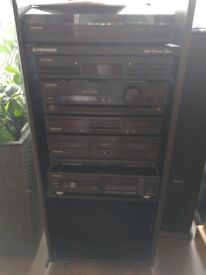 Pioneer hifi with remote control and manual