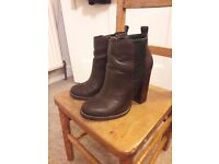 Miss KG, Leather ankle boots, size 4