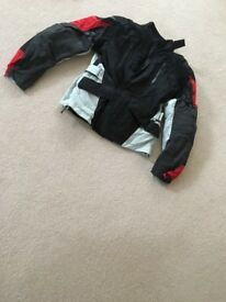 Ladies Dainese D-Dry textile jacket, black, white and red, size small (44)