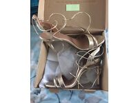 Gold Next Strappy Sandals size 5 worn once