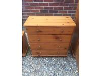 Lovely pine chest of drawers.