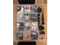12 playstation 3 games and singstar mics