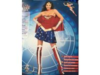 Wonder Woman fancy dress costume size i8 to10 only worn once selling £15