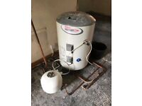 Water Tank - Santon 120L cylinder - all pipes / valves etc and expansion tank available