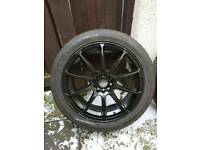 4 x 17 inch Alloy Wheels With Good Tyres. Multistud, 5x110 and 5x102. Alfa, Vauxhal, Saab and more.