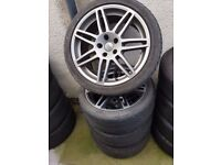 Audi Skoda Vw VAG A4 S4 B7 SLINE RS4 18'' GREY Alloy Wheels Can sell single Can post Px Welcome