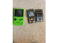 Nintendo GameBoy color & 4 games