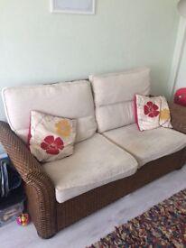 Two seater wicker sofa