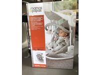 Mamas and papas Rockers, Bouncers & Swings Starlite Swing with Adjustable Canopy - Grey Melange