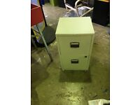 Metal white 2 draw filing cabinet secondhand