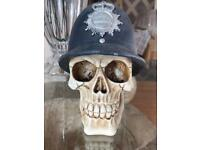 Police Skull Statue