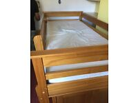 Cabin bed with desk, drawers and wardrobe
