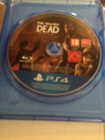 The Walking Dead complete first season PS4 game