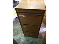 Filing cabinet - 3 drawer, wooden
