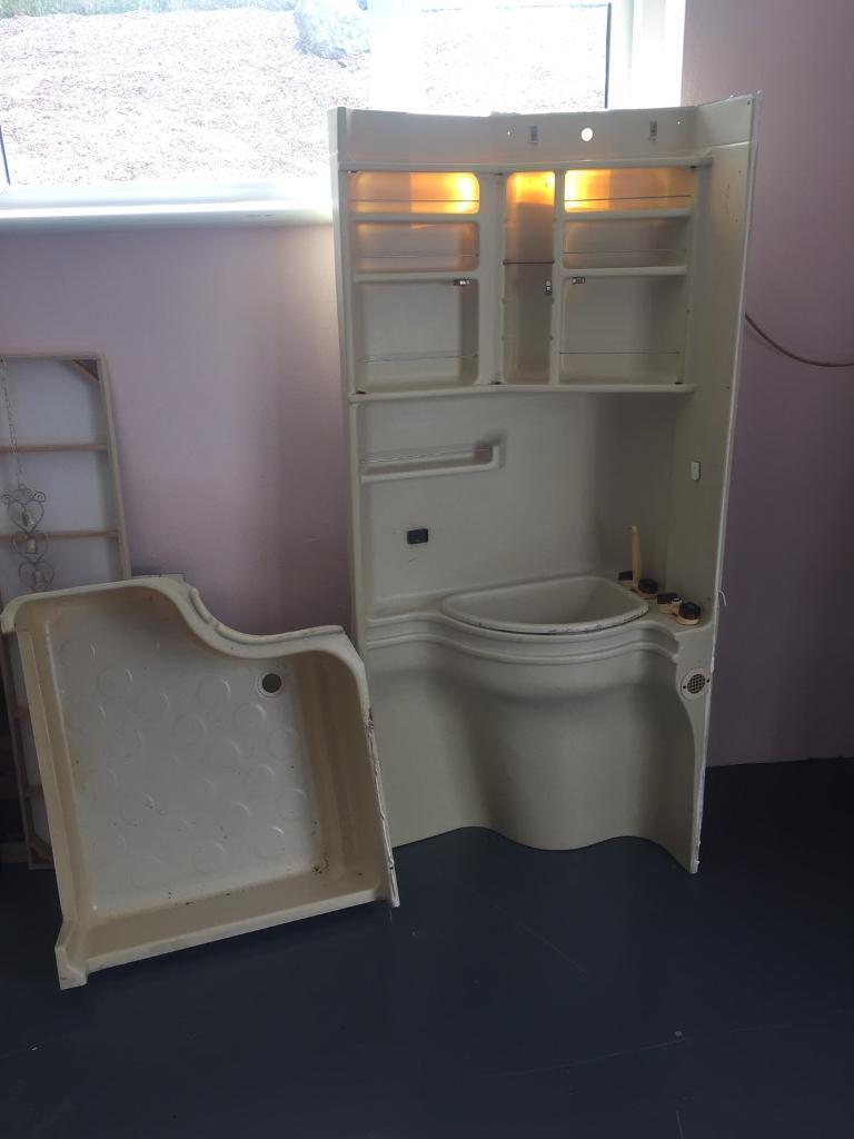 Caravan bathroom unit - Caravan Bathroom Cabinet Sink Shower Tray