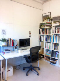 Desk space in HAGGERSTON warehouse studio ** £160pcm inc bills