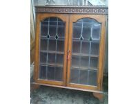 vintage industrial display cabinet poss for larder - spice display-tv stand side table old charm