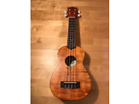 Like new! Kala KA-SEM Exotic Mahogany Soprano Ukulele + nice padded bag