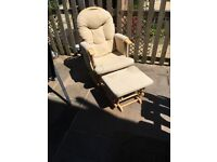 Recliner glider chair and stool