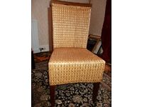 Rattan wooden chair high back suitable for home or office