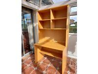 Oak desk & storage