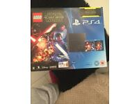 PS4 console 500gb 3 games and 1 blue ray film