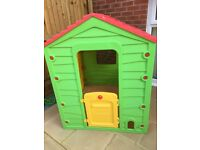 Children's playhouse in very good condition only a few months old, colours not faded