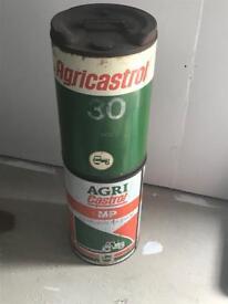 Castrol oil drums