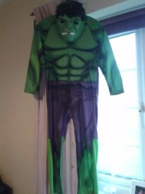 HULK COSTUME+MASK DRESSING UP KIDS - CHILD *AGE 7-8YRS BY TU*WORN ONCE* HAD FROM NEW - SHROPSHIRE
