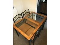 KITCHEN DINNING TABLE INCLUDING 4 CHAIRS FOR QUICK SALE