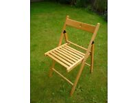 Folding Chairs 5 IKEA Terje. Stackable good condition.