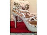 Studded high heels brand new size UK 5.5/6 Pale blue