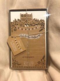 Paperchase Owl Wedding Invitations - Box of 100