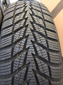 4x Tyres and spare wheel