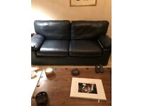 BEAUTIFUL MARKS & SPENCERS LEATHER SOFA & CHAIR