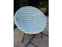 VINTAGE 1960s CHILDS CONE / SATELLITE PLASTIC WOVEN CHAIR