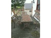 Cast iron antique vintage garden furniture set