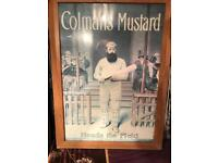 "Framed Colmans Mustard "" Cricket 🏏 "" Picture"