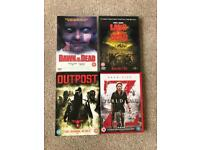 Horror/ Zombie DVD's World War Z Dawn of the Dead Land of the Dead Outpost