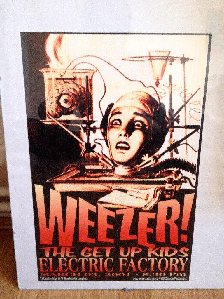 Weezer Live @ Philadelphia Electric Factory gig poster RARE