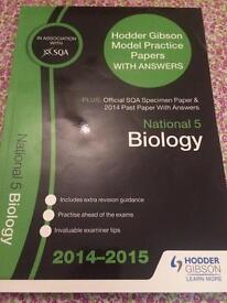 SQA National 5 Biology Past Paper Book