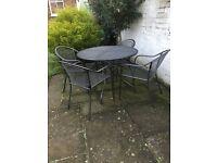 Homebase garden table & chairs