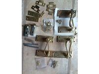 Selection of Brass door handles & fittings, internal