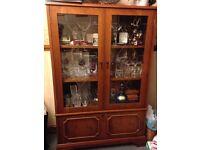Display Cabinet - Antique Oak