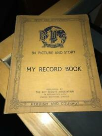 1938 scout record book