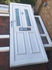 Upvc front door with side panel 2.1wide x 2120 high