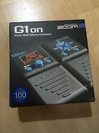 Zoom G1 ON multi effects processor
