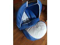 Beautiful blue baby car seat