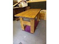 rustic pine / oak stain table